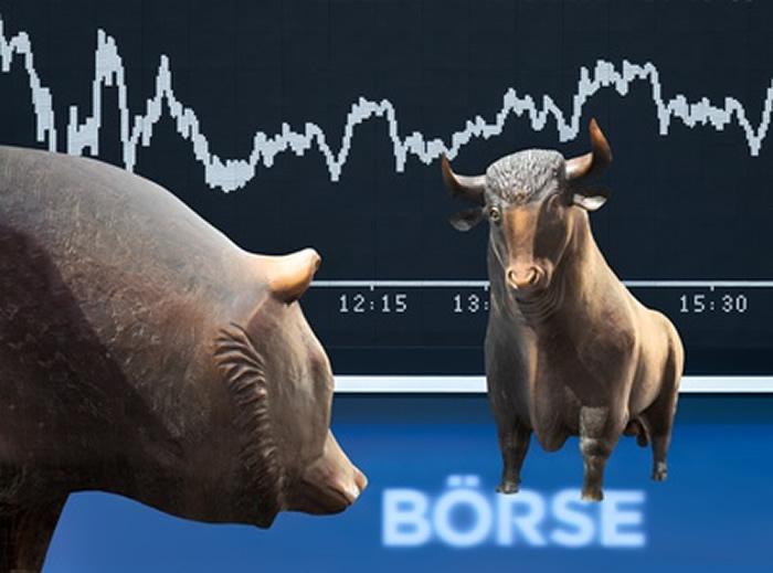 Blick auf das sich drehende Börsenkarussel