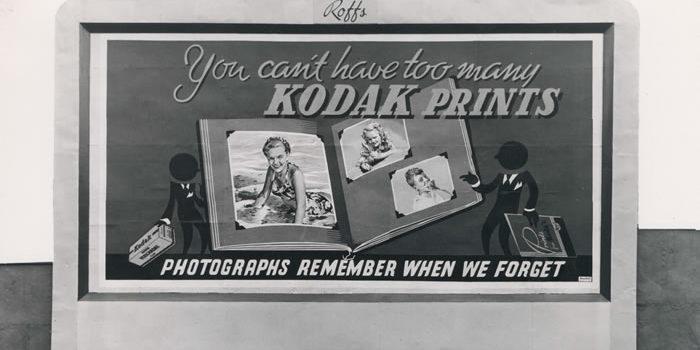 Eastman Kodak alte Werbetafel