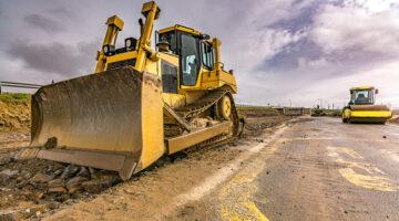 Strassenbau Bagger Infrastruktur